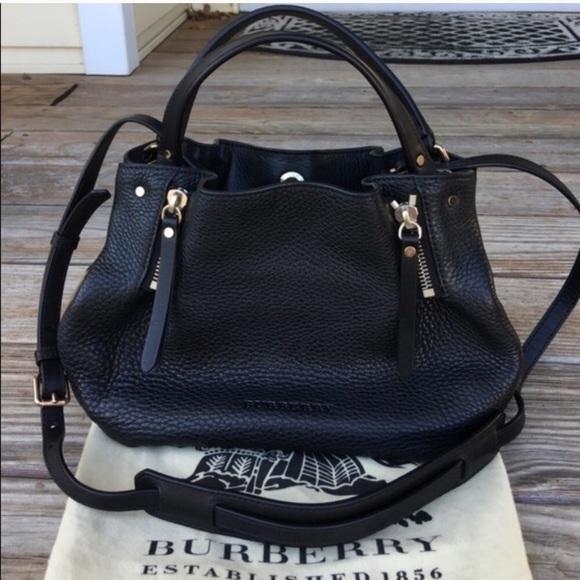 b7d9c2aaf1 Burberry Bags | Nwt Black Leather Maidstone Bag | Poshmark